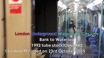 London Underground Waterloo & City Line Bank to Waterloo