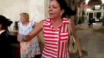 Residente de la Habana salieron a la calle protestando por la situación en que se encuentra su inmueble,