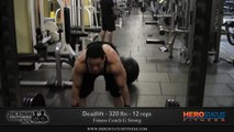 320 lbs Deadlift For 12 Reps - Barbell Deadlift Workout By G Strong