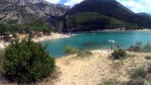 Lac de barrage Sainte Croix (Alpes)