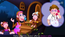 Five Little Monkeys Jumping On The Bed | Part 1 The Naughty Monkeys | ChuChu TV Kids Songs