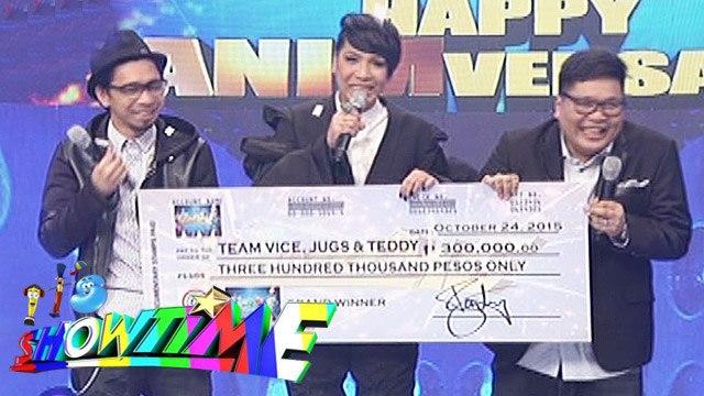 It's Showtime: Team Vice, Jugs, & Teddy won Magpasikat Performance 2015