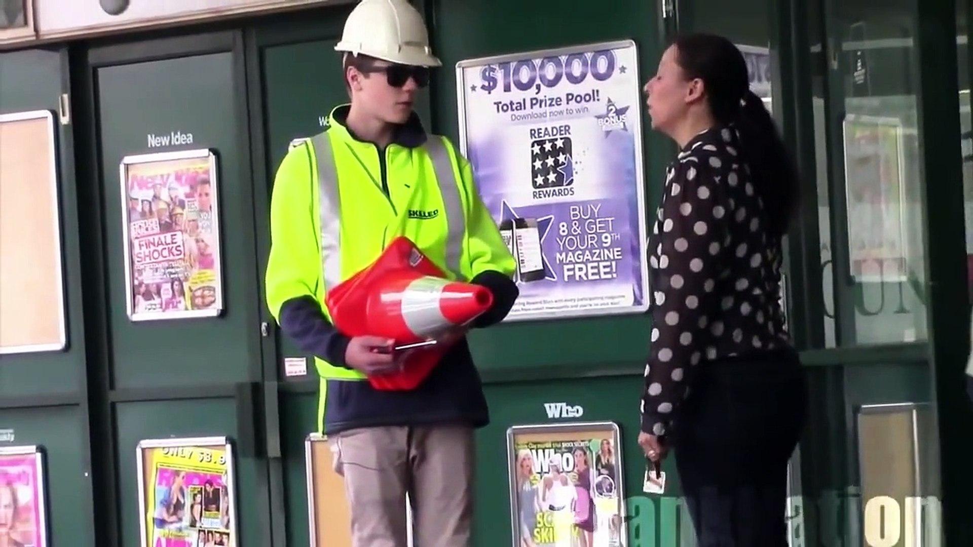 Public Pranks Annoying Construction in Public Pranks on People Funny Pranks Best Pranks 20