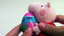 Surprise eggs Peppa Pig Kinder Surprise egg unwrapping toys and candies unboxing