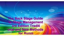 Books of The Back Stage Guide to Stage Management 3rd Edition Traditional and New Methods