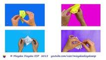 Cómo hacer un cangrejo de papel. Papiroflexia. Origami. Animales de papel