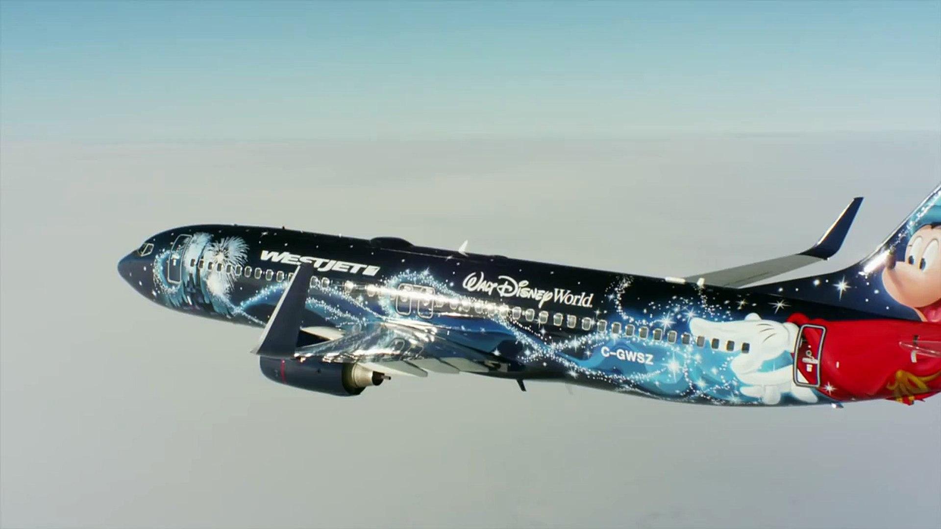 Air to air: WestJet #MagicPlane in flight