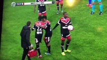 Crazy! Valenciennes' Saliou Ciss lost his head and fought with his teammates