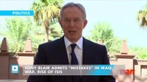 """Tony Blair admits """"mistakes"""" in Iraq war, rise of ISIS"""