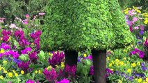 Frozen Anna and Elsa Topiary at Disneys Epcot Flower and Garden Festival 2015