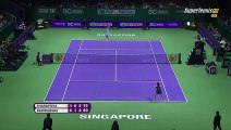 Maria Sharapova vs Agnieszka Radwanska Best Point WTA Finals Singapore 2015