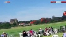 raw footage Plane Crashes At Airshow 7 Dead, Hawker Hunter Crash at West Sussex A27