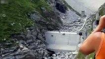 Alpinistas cabras. Cabras de montanha engraçada