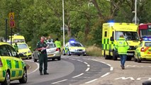 London bus crash in Manor Park - Onscene + Air Ambulance taking off