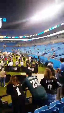 NFL FOOTBALL Eagles Vs Panthers