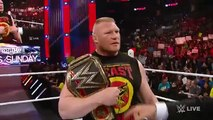 WWE RAW Roman Reigns confronts Brock Lesnar face to face, March 23, 2015