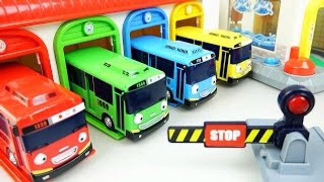 Tayo(타요) Tayo the little bus Car Wash, Garage, Gas station, Wheel on the bus 꼬마버