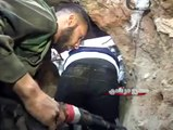 Syria War Heavy Fighting Syrian Army In Heavy Intense Close Urban Combat Action