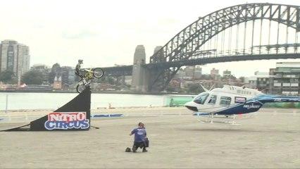 Travis Pastrana Helicopter Jump   Nitro Circus