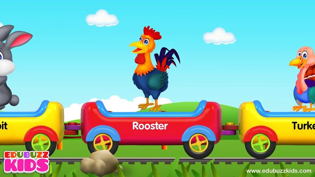 Learn Animal Train | Animal Sounds | Farm Animals, Birds, Sea Animals and Wild Animals Tra