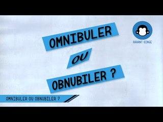 Omnibuler ou Obnubiler ?
