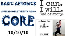 Beginner Low Impact Cardio Workout: 10/10/10/ **Floor Aerobics **UPPER& LOWER Toning**Core**
