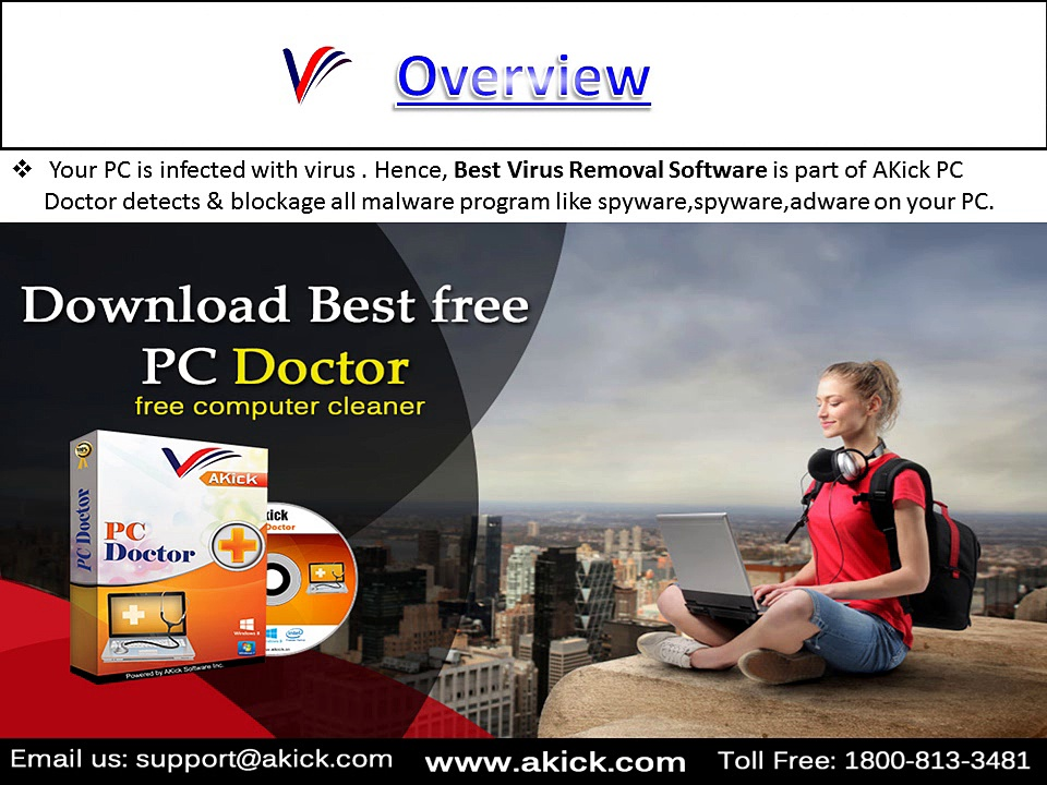 Remove Virus with AKick PC Doctor Software Tool
