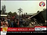 Indonesian military plane crashes in northern Sumatra city of medan; Metro TV Reuters