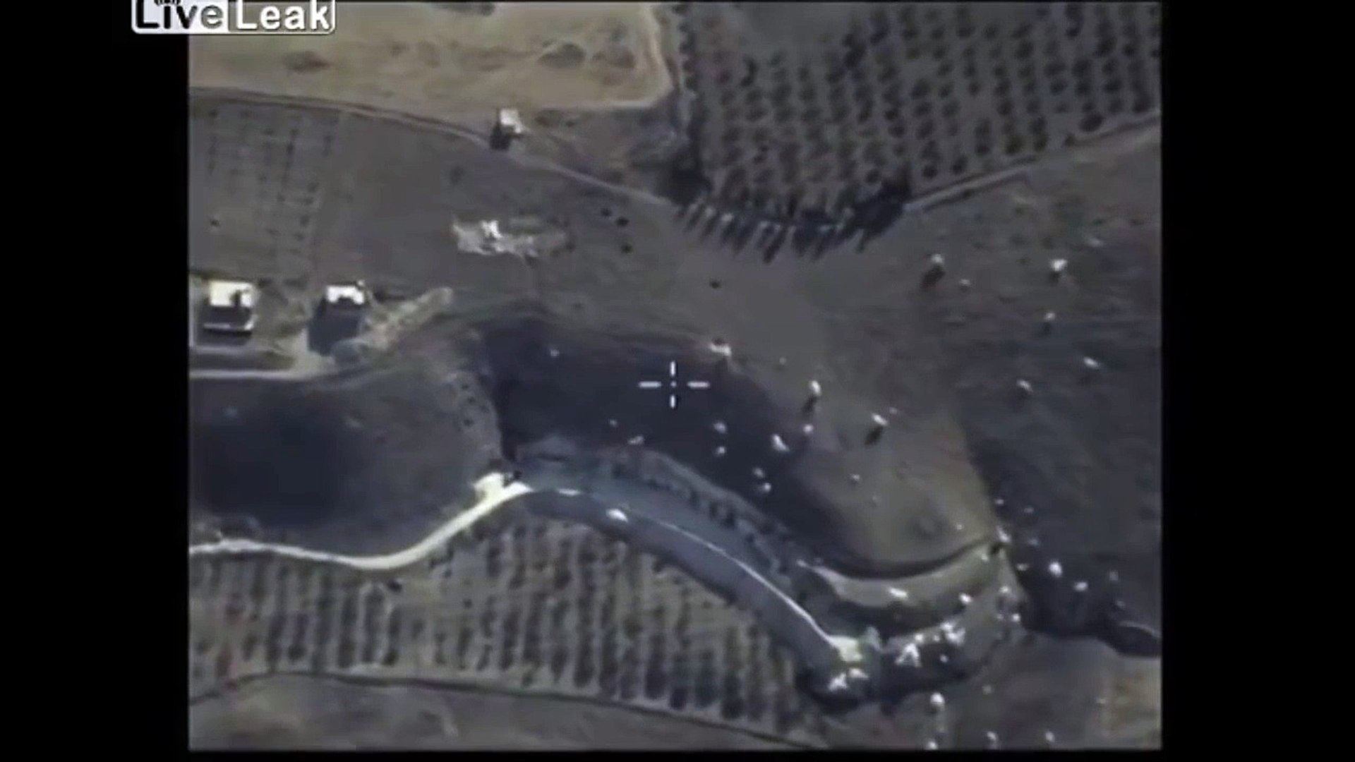 LiveLeak - Drone footage from Russian air strikes in Syria