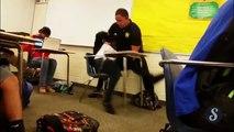 Une lycéenne trainée par terre en plein cours par un policier