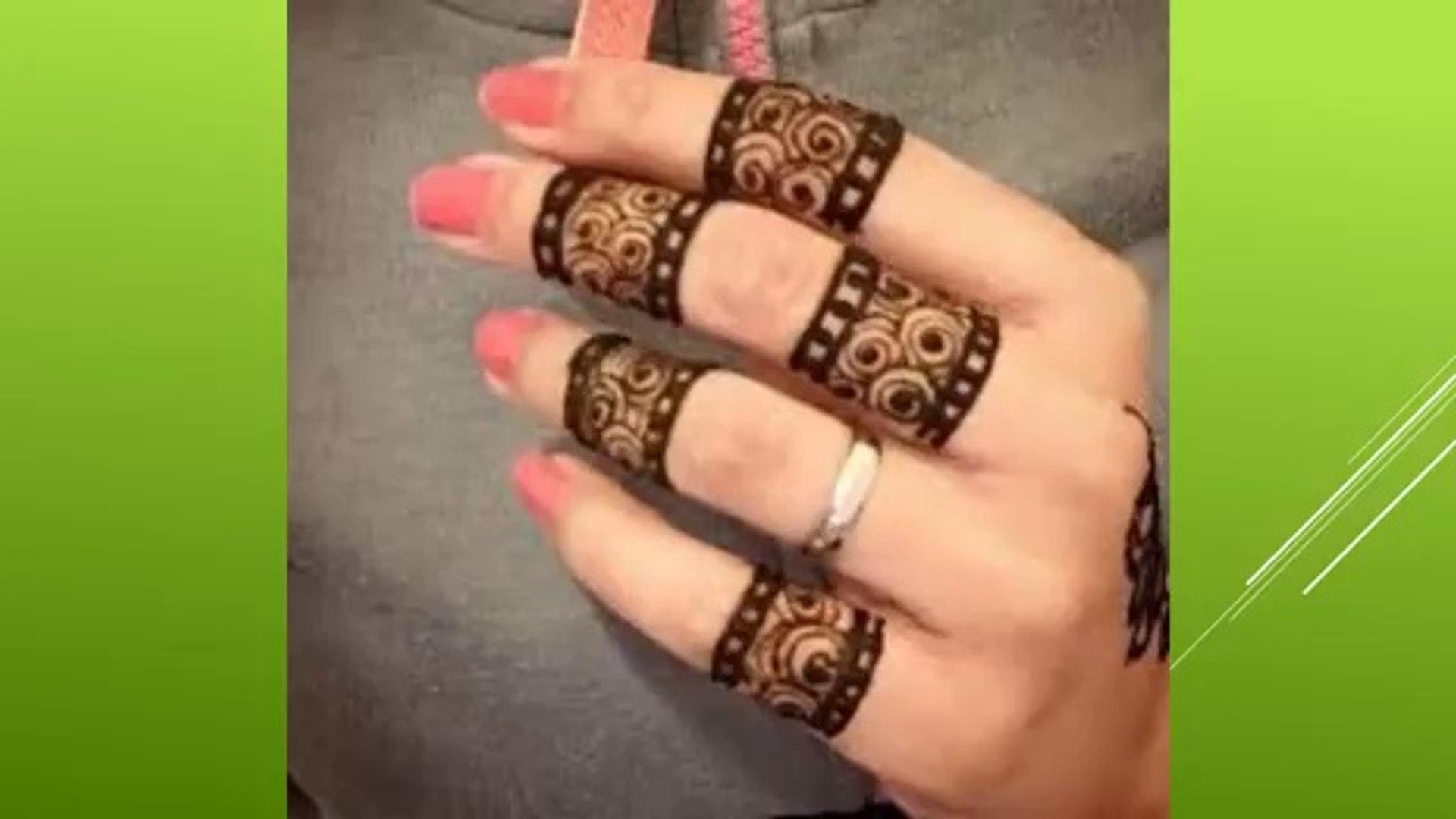 Fantastic Mehandi Designs For Fingers
