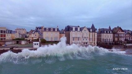 Les Grandes Marées filmées par le drone d'EASY RIDE-Saint-Malo-Bretagne