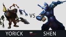 Yorick vs Shen - SKT T1 Faker Challenger Ranked Solo Queue Replay