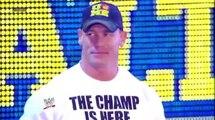Champion Vs Champio John Cena W.W.E Champ Vs Alberto Del Rio WH Champ Ra.w 01072013