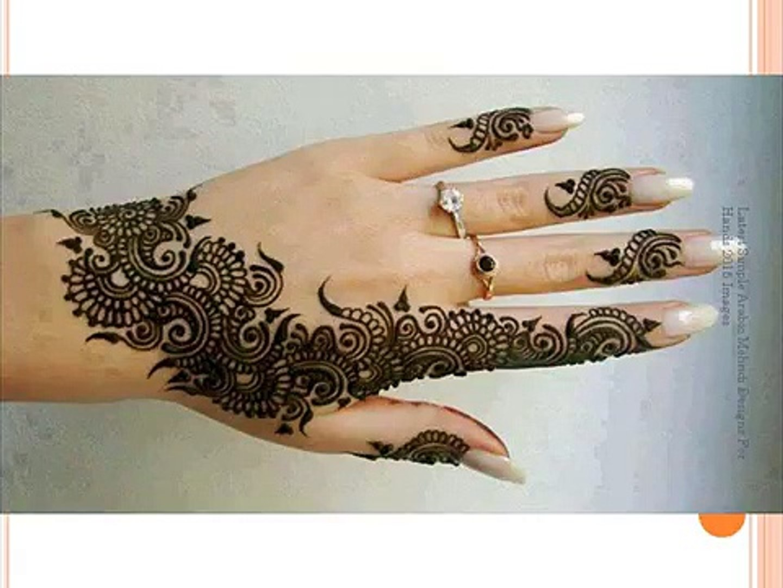 Latest Simple Arabic Mehndi Designs For Hands 2015