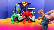 Imaginext Clay Face Brothers Attack Incredible Hulk Smash Brothers Superman And Green Lant