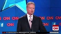 Jim Webbs Puppet Hands at the Democratic Presidential Debate