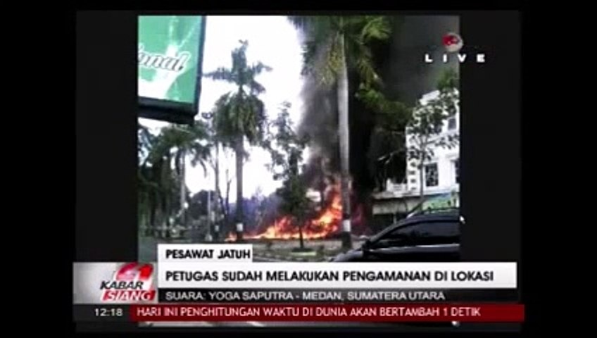 C130 Hercules military plane crashes in Indonesia