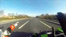 Biker Rides Into Back of Biker at High Speed