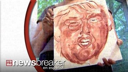 Artista Americana Pinta Retrato de Donald Trump con su Sangre Menstrual