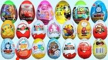 Surprise Eggs Kinder Surprise Frozen Cars 2 Thomas Spongebob Disney Pixar Cars