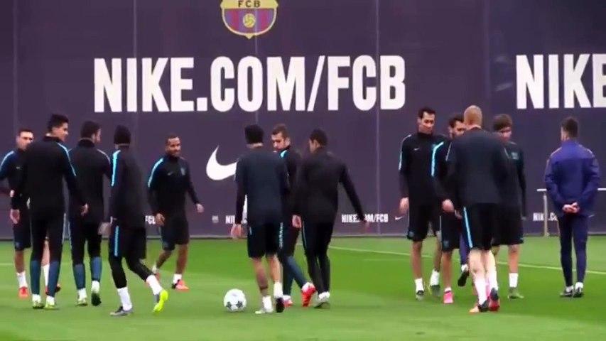 Neymar inventa drible no treino e companheiros não conseguem imitá-lo!