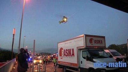 Accident mortel au péage Nice Saint Isidore