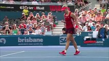 Angelique Kerber v Carla Suarez Navarro highlights (SF) | Brisbane International 2016