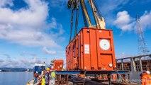 Le voyage de 7 caissons de 450 tonnes chacun à travers le monde - Time Lapse