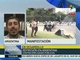 Argentina: 20 heridos deja represión a exempleados en La Plata