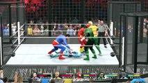 WWE 2K15 SUPERMAN VS BATMAN VS FLASH VS GREEN LANTERN VS AQUAMAN VS CYBORG JUSTICE LEAGUE