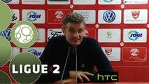 Conférence de presse Nîmes Olympique - Stade Brestois 29 (2-0) : Bernard BLAQUART (NIMES) - Alex  DUPONT (BREST) - 2015/2016