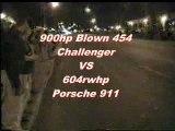 Street racing - Car Races - Porsche vs. 900 hp Challenger