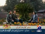 Wahab Riaz and Mohammad Irfan in Cricket Kay Raja Kay Sath on Geo
